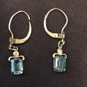 Aquamarine Earrings HV for Coro '20's